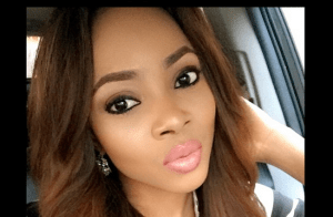 Toke Makinwa stuns in Black and White stripes top and White Jeans (Photos)