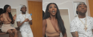 Look at how this London Lady is inviting Davido with her Boobs (Photo)