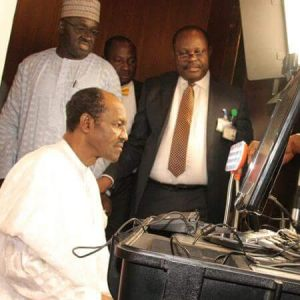 Buhari Registering for his National ID Card in Abuja (Photos)