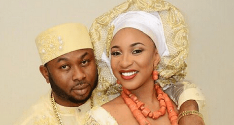 Tonto Dikeh with husband, Oladunni Olakunle Churchill