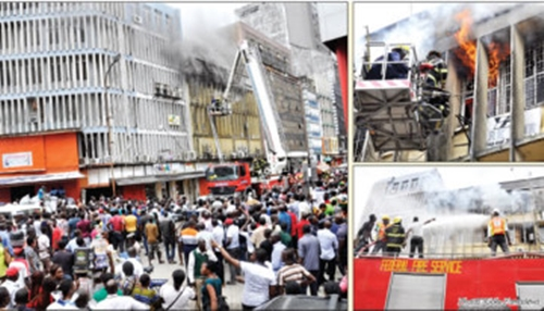 Fire-guts-shopping-mall-bank-in-Lagos