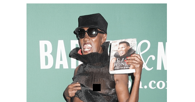 , Grace Jones, Flashes Her Boobs at Cameras as She Promotes New Book (Photos), Effiezy - Top Nigerian News & Entertainment Website