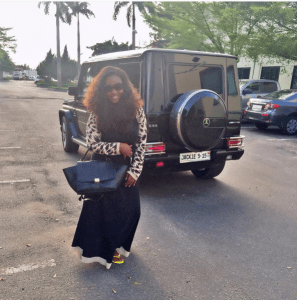 Ghanaian actress, Jackie Appiah flaunts her new customized Mercedes G-Wagon (Photos)