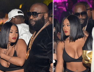 , Rick Ross and fiancee Lira Galore party it up, See her outfit (Photos), Effiezy - Top Nigerian News & Entertainment Website
