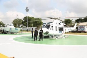 Ambode commissions helicopters, gun boats, armoured personnel carriers in Lagos (Photos)