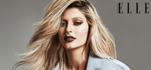 Kylie Jenner poses with a big gold nose ring for Elle Canada shoot