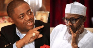 (L to R) Femi Fani-Kayode and President Buhari