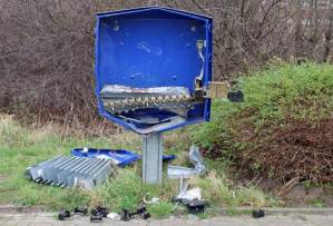 German man dies after blowing up a condom machine while trying to rob it on Christmas day