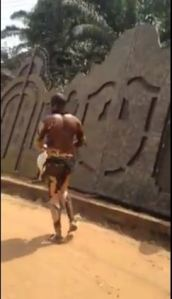 Man badly burnt runs out of Chickason Gas Plant explosion in Nnewi, Anambra State (Photos + Video)
