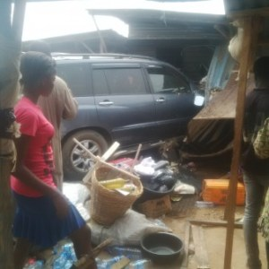Driver crushes girl to death in Obadare, Lagos (Photos)