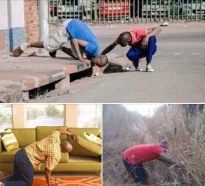 Nigerians looking for the lost or missing 2016 Budget – Another Laugh (Photos)