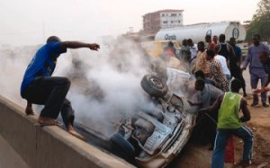 Bus crushes mother-of-two to death in Lagos