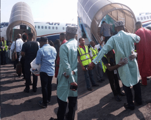 Transport Minister, Amaechi searched properly at Lagos airport (Photos)