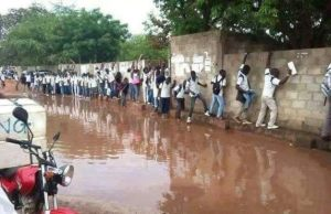 Look at what flood has done to students in Edo state (Photo)