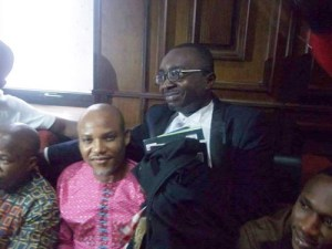 , IPOD leader, Nnamdi Kanu arrives court in optimistic mood today (Photos), Effiezy - Top Nigerian News & Entertainment Website