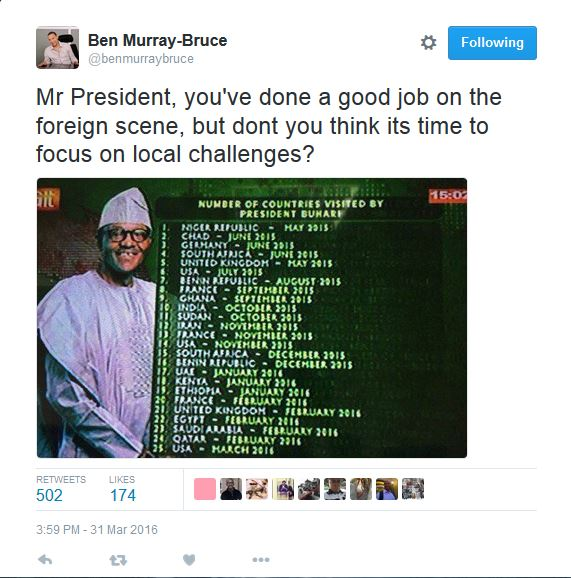 buhari and foreign travel