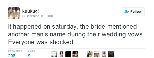 Bride mentions her ex's name during wedding vows4