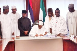Buhari budgets N200billion for roads, as he finally signs the 2016 budget