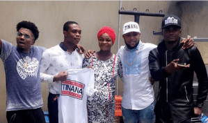 Kcee rewards heavily pregnant lady who entered 'Tinana' dance competition (Photos + Video)