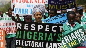 Breaking: Edo election: Protesters invade INEC collation centre, says announcement of results be stopped