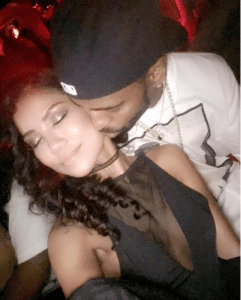 Jhene Aiko shares a cuddled up pic with Big Sean
