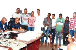 Police parade 9 alleged kidnappers of CBN governor's wife, N14.7m recovered (Photo)