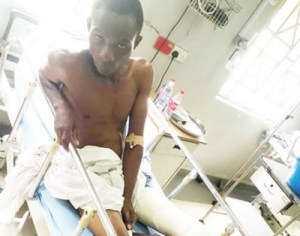 How policemen allegedly shot 18-year-old admission seeker, cut another with cutlass in Lagos (Photo)
