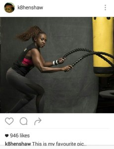 Werk it Mama!-Kate Henshaw  flaunts her toned body