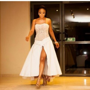 Toke Makinwa steps out in style for book launch