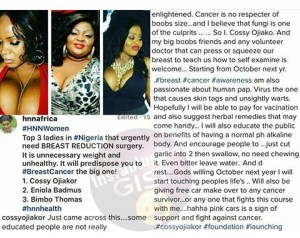 Cossy and Kemi for each other on IG