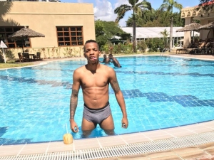 Singer, Tekno shares a pool pic