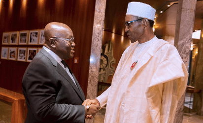 , President Buhari welcomes Ghana's President-Elect (Photos), Effiezy - Top Nigerian News & Entertainment Website