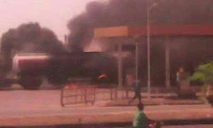 Conoil Filling station in Makurdi goes up in flames