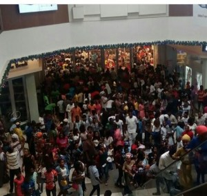 Picture of Ikeja City Mall on New Year Day