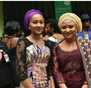 Zahra Buhari-Indimi pictured with First Lady of Kogi State