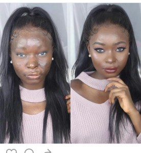 Check out this before and after make up transformation