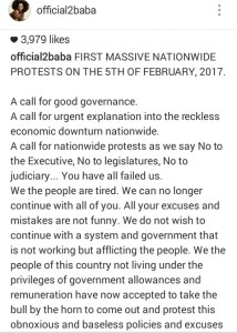 , Tubaba to organize a protest against the Federal Government, Effiezy - Top Nigerian News & Entertainment Website