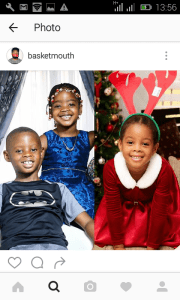 Basketmouth shares photo of his lovechild alongside other kids
