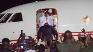 APC chieftain, Tinubu's private jet used to fly Yahya Jammeh out of Gambia