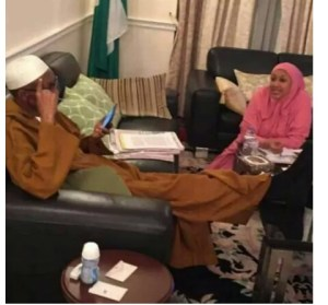 Nigerians react to pictures of Buhari and his daughter in London