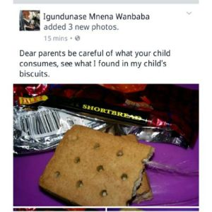 , Woman shares picture of what she saw in a biscuit, Effiezy - Top Nigerian News & Entertainment Website