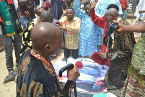 Igbo Chieftains kneel and pray for Nnamdi Kanu's release