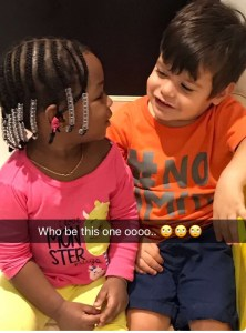 Davido reacts to a white kid hugging his daughter,Imade