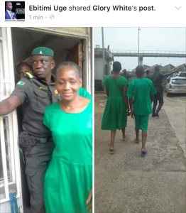 Kemi Olunloyo in prison uniform as her bail is denied