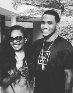 Kiki Osibanjo pictured with Trey Songz in the US