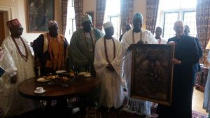 Ooni of Ife meets the Archbishop of Canterbury in London