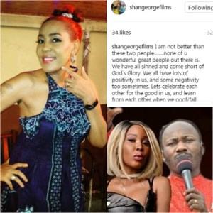 , Shan George wades in the Apostle Suleiman sex scandal, Effiezy - Top Nigerian News & Entertainment Website