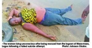 Woman jumps into Lagoon in Lagos