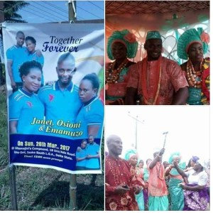 Video of the wedding of the man who married two women in Delta State
