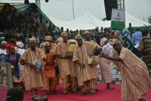 Alaafin of Oyo, Ooni of Ife, Amosun , Wole Soyinka at African Drums festival